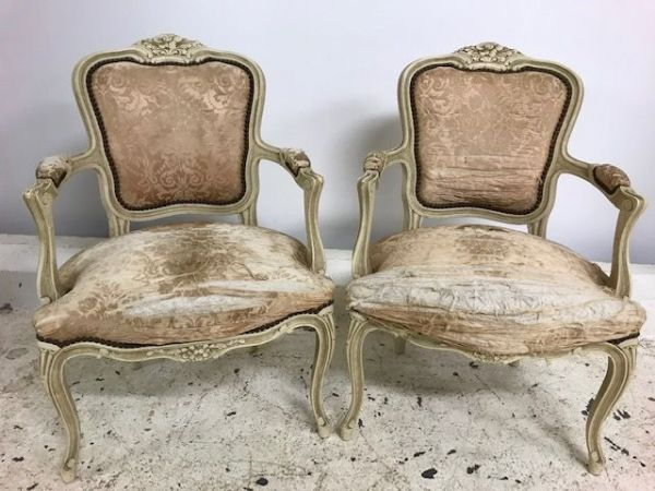 Pair of Lovely Vintage French Chairs -  CA04